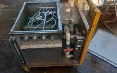 Coolant pressure testing unit