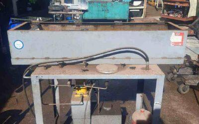 Testing tub w/ Tecalemit pump